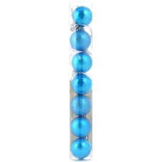 Шар d-3 cм 7 шт/уп, голубой