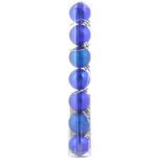 Шар d-4 cм 7 шт/уп, синий