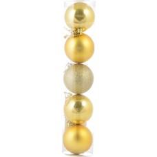 Шар d-6 cм 5 шт/уп, золотой