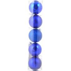 Шар d-6 cм 5 шт/уп, синий