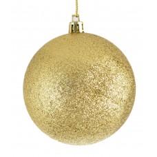 Шар d-8 см золотой глитер