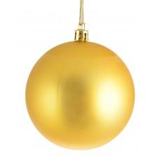 Шар d-8 см золотой матовый