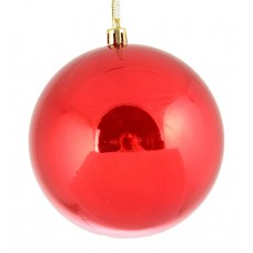 Шар d-8 см красный перламутр