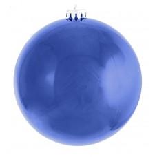 Шар d-25 см синий глянец