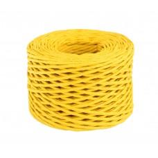 Шпагат бумажный крученый для декора, 50 м, жёлтый