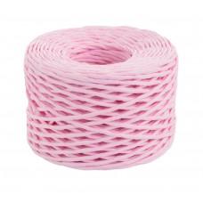 Шпагат бумажный крученый для декора, 50 м, розовый