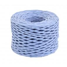 Шпагат бумажный крученый для декора, 50 м, голубой