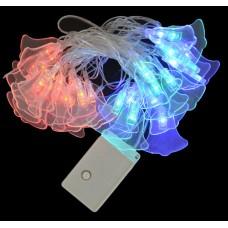 """Электрогирлянда свет """"Колольчик"""", 30 ламп, многоцв, 3 м., 8 реж.мигания, проз.провод"""