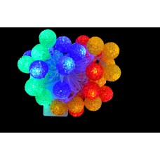"""Электрогирлянда светод """"Ягоды"""", 40 ламп, многоц., 3 м., 8 реж.мигания, прозр.провод"""