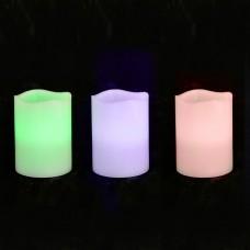 Свеча восковая LED, 7.5*10, ХАМЕЛЕОН