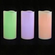 Свеча восковая LED, 7.5*15, ХАМЕЛЕОН