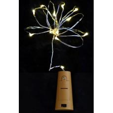 """Электрогирлянда LED """"Сork light for bottle"""", 15 ламп, молочно-белая, 1,60 м"""