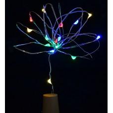 """Электрогирлянда LED """"Сork light for bottle"""", 15 ламп, многоцветная, 1,60 м"""