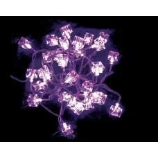 """Электрогирлянда светодиодная """"Льдинка"""", 30 ламп, фиолеов., 3м., прозр. провод, 8 реж. миг."""