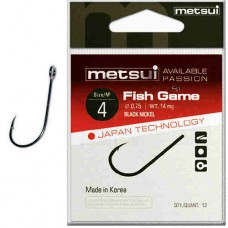 Крючки Metsui FISH GAME цвет bln, размер № 10, в уп. 12 шт. (8803720031512)