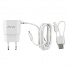 Сетевое зарядное устройство Aspor A802P LED + microUSB 2.4A