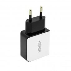 Сетевое зарядное устройство Aspor А811 2 USB LED 1+2.1 A