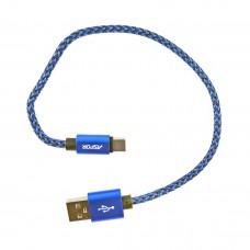 Кабель Aspor A162 Nylon Cable Type-C 0.3 м