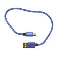 Кабель Aspor A173 Nylon Cable microUSB 0.3 м