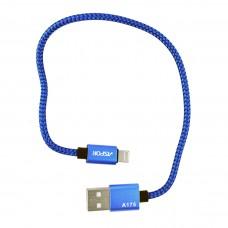 Кабель Aspor A175 Nylon Cable Apple Lightning 0.3 м